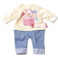 Комплект одежды для дома, 32 см, My Little BABY born, бежево-голубой Zapf Creation