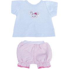 """Одежда для куклы Mary Poppins """"Зайка"""", футболка и шорты"""