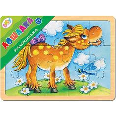 "Игра из дерева ""Каруселька. Лошадка"", Step Puzzle Степ Пазл"