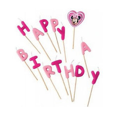 Свечи-буквы Кафе Минни «Happy Birthday» Procos