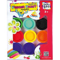 Пальчиковые краски, 12 цветов Kribly Boo