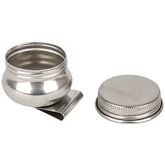 Масленка металлическая с крышкой , Малевичъ