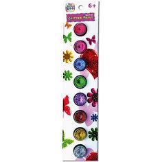 Набор искрящихся красок с кисточкой, 8 цветов Kribly Boo