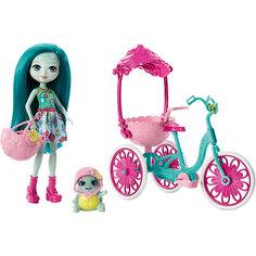 Кукла Enchantimals Тайли Черепаша на трехколесном велосипеде Mattel