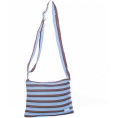 Сумка Medium Shoulder Bag, цвет голубой/коричневый Zipit