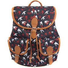 """Рюкзак """"Ласточки"""" с 2-мя карманами, цвет темно-синий Creative LLC"""