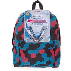 "Рюкзак ""Мозаика"" с наушниками, цвет мульти 3D Bags"