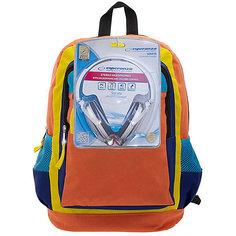 """Рюкзак """"Оранжевое настроение"""" с наушниками, цвет оранжевый с синим 3D Bags"""