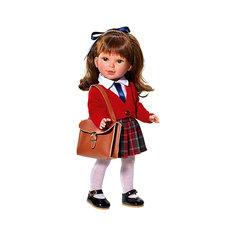 Кукла Vestida de Azul Паулина, брюнетка с челкой, волна, Школьница