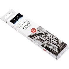 Угольные карандаши мягкие 12 шт Сонет Невская палитра