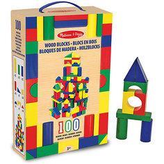 Деревянный конструктор, 100 дет., Melissa & Doug