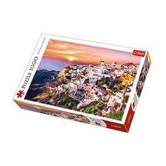 Пазлы «Закат над Санторини», 1000 деталей Trefl