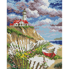 Мозаичная картина на холсте 20х25см Берег Белоснежка