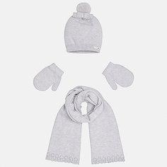 Комплект: шапка, шарф и варежки Mayoral для девочки