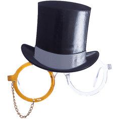 Карнавальные очки Цилиндр из пластика Magic Time