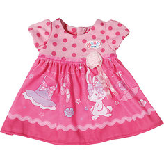 Платье для куклы, BABY born, темно-розовое Zapf Creation