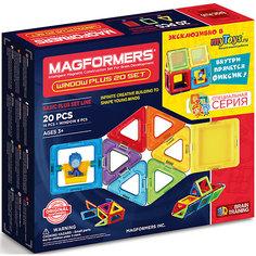 Магнитный конструктор в комплекте нолик 715001 Window Plus Set 20 set, MAGFORMERS