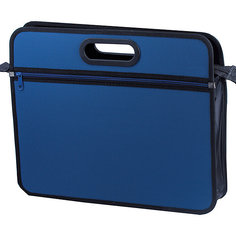 "Папка-сумка Brauberg ""Классика"" А4, синяя"
