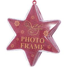 Украшение новогоднее подвесное Красное сияние, арт.42314 звезда из поливинилхлорида Magic Time