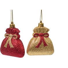 Новогоднее подвесное украшение из пластика, набор из 2 шт., 75450 Magic Time