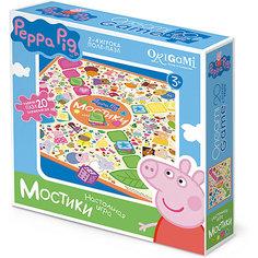 """Настольная игра+пазл Origami """"Свинка Пеппа"""" Мостики"""