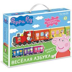 """Настольная игра+пазл Origami """"Свинка Пеппа"""" Веселая азбука"""