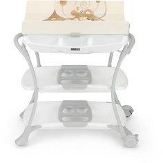 Пеленальный столик с ванночкой Nuvola Мишка, CAM, бежевый