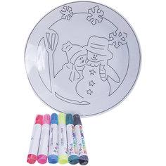 Детский набор для творчества- Тарелочка, 6 фломастеров, 20.8*3.5*20.8 см Mag2000