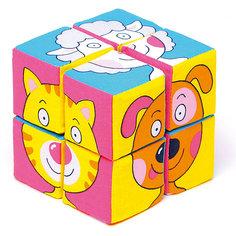 """Кубики """"Собираем картину - зверята"""", Мякиши"""