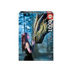 "Пазл ""Девушка и дракон"", 1000 деталей, Educa"