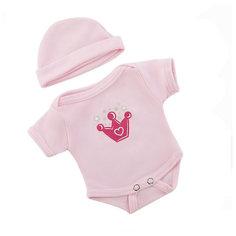 "Одеждя для куклы Mary Poppins ""Боди с шапочкой"", 38-43 см (розовый)"