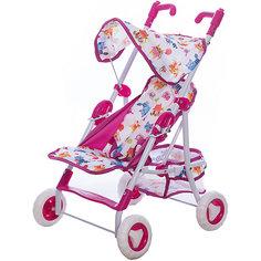 """Прогулочная коляска для кукол Mary Poppins """"Фантазия"""", малиновая"""