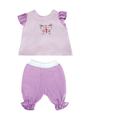"Одежда для куклы Mary Poppins ""Бабочка"" кофточка и брючки, 38-43 см (сиреневый)"