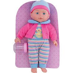 """Кукла-пупс Mary Poppins """"Милый болтун"""" Полли в розово-голубом, 33 см (звук)"""