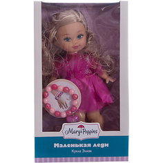"""Классическая кукла Mary Poppins """"Маленькая леди с браслетом"""" Элиза в малиновом платье, 25 см"""