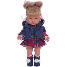 Классическая кукла Llorens Валерия в красном платье, 28 см
