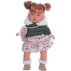 Кукла-пупс Llorens Жоэль в коричневом платье, 38 см
