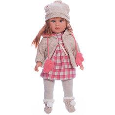 Классическая кукла Llorens Мартина в клетчатом платье, 40 см