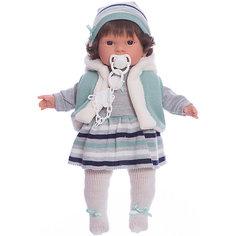Кукла-пупс Llorens Карла в сером платье, 42 см