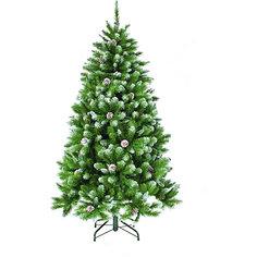 """Искусственная елка Triumph Tree """"Императрица. С шишками, заснеженная"""", 155 см (белая, зеленая)"""