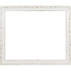 Багетная рама для картин 40х50см  2575-BB Antique (белый) Белоснежка