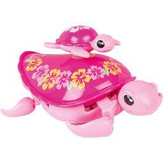 Интерактивная игрушка Moose Little Live Pets Черепашка с малышом, розовая