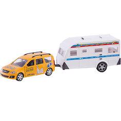 """Машинка Autotime """"Поехали вместе!"""" Lada Largus с домом на колесах, 1:38"""