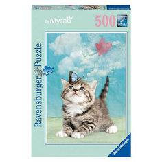 """Пазл """"Котенок с мотыльком"""" Ravensburger, 500 деталей"""