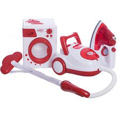 """Игровой набор ABtoys """"Помогаю маме"""" Стиральная машина, утюг и пылесос"""