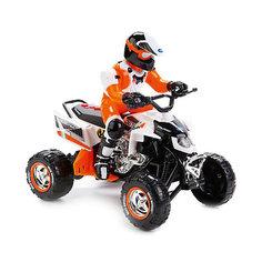 Квадроцикл Toystate с гонщиком (бело-оранжевый)
