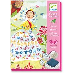 Набор штампов «Девушки с цветами», Djeco