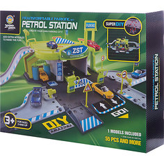"Парковка Shantou Gepai ""Автозаправочная станция"" 2 уровня + 1 машина"