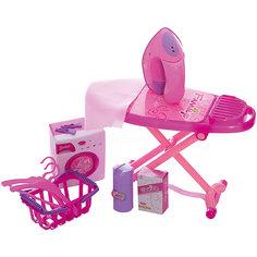 """Набор для уборки Shantou Gepai """"Набор для глажки и стирки"""", розовый"""