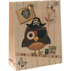 """Пакет """"Сова-пират"""" 26*32*12 см Белоснежка"""